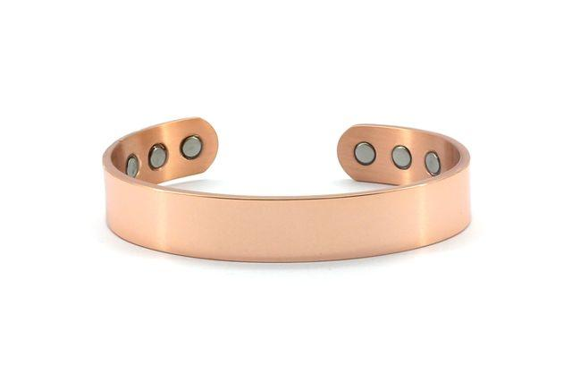 Wide Plain Copper Magnetic Bangle