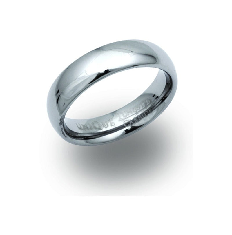 Men's Tungsten Carbine 6mm Ring Jewellery Unique 56