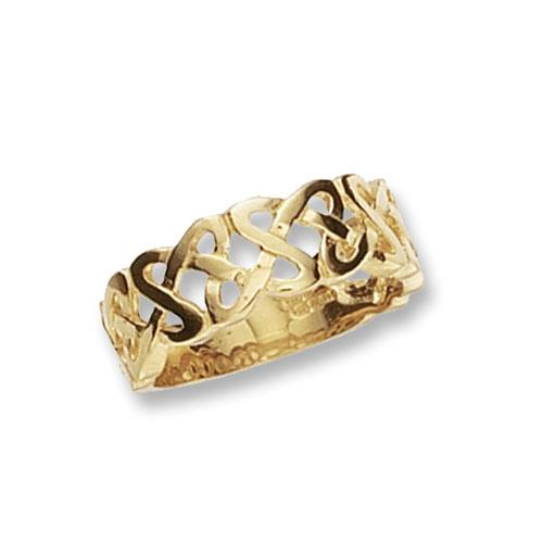 Men's Gold Celtic Band Ring Jewellery Treasure House Limited