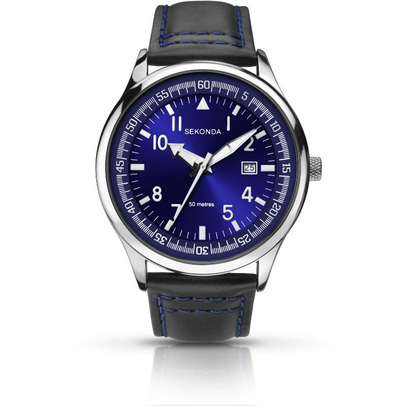 Sekonda Gent's Watch with Blue Dial 1462 Watches Sekonda