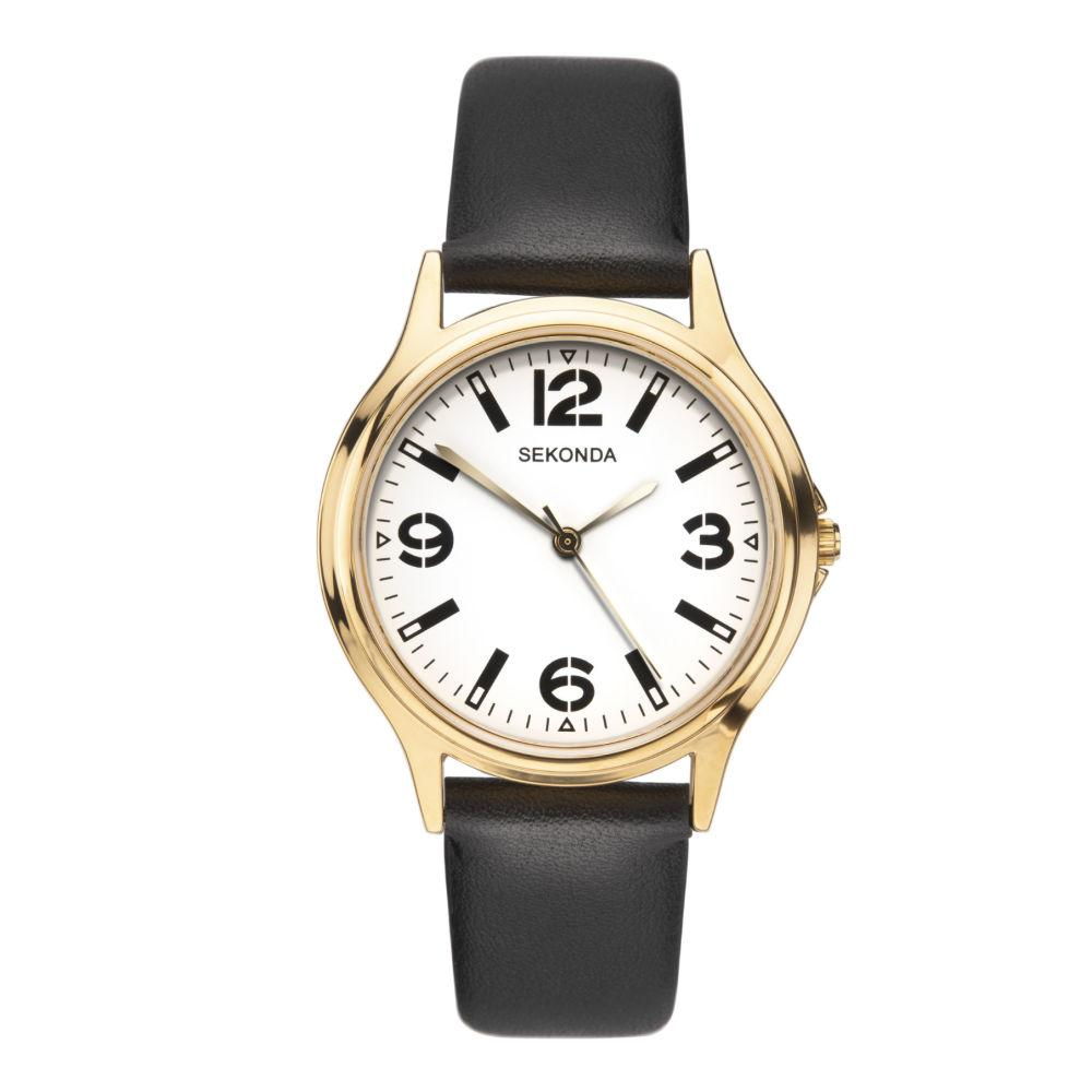 Sekonda Men's Watch with Black Strap and Large Numbers 1528 Watches Sekonda