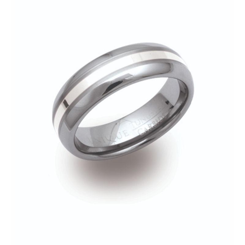 Men's Tungsten and Silver Ring Jewellery Unique