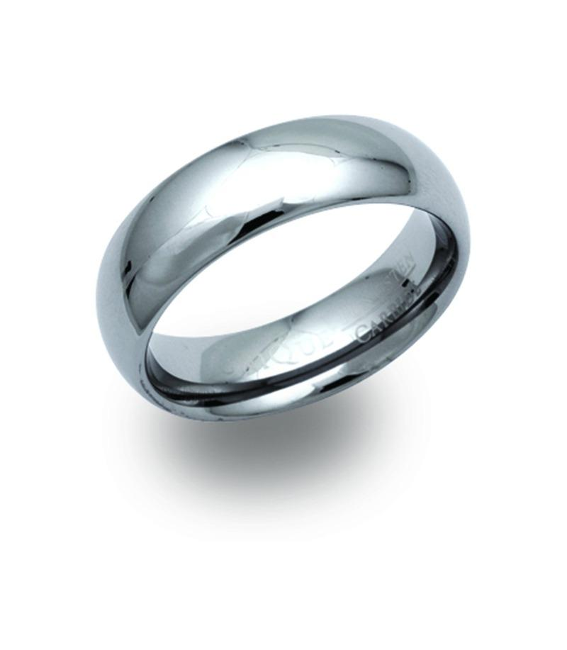 Men's Tungsten Ring 7mm Band Jewellery Unique 56