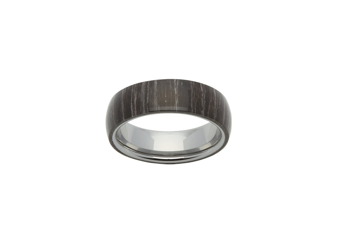 Men's Tungsten Ring with Black Sandal Wood Finish