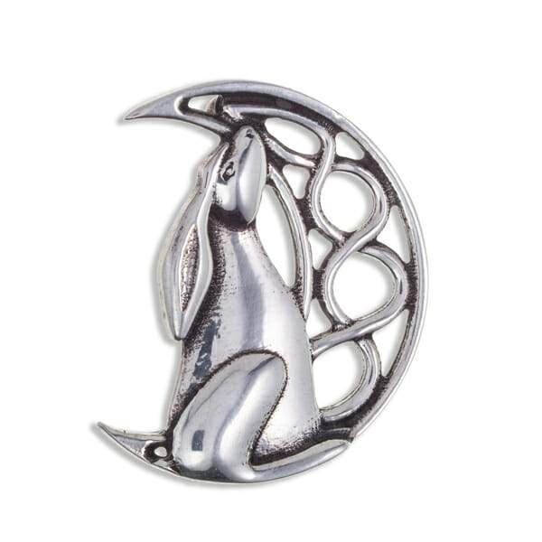 Moon Gazing Hare Brooch Brooches St Justin