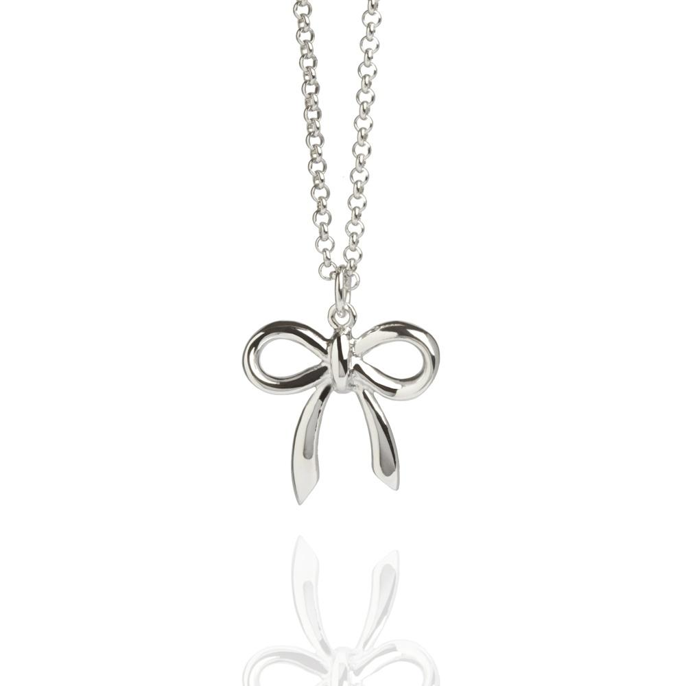 Muru Bow Necklace in Silver Jewellery Muru