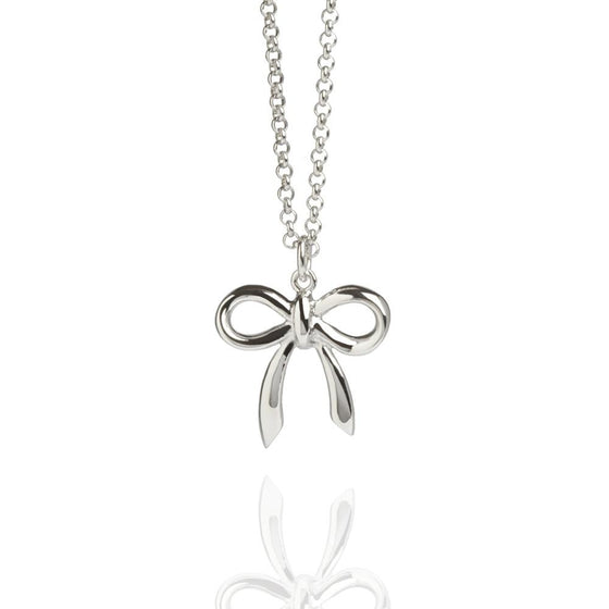Muru Bow Necklace in Silver