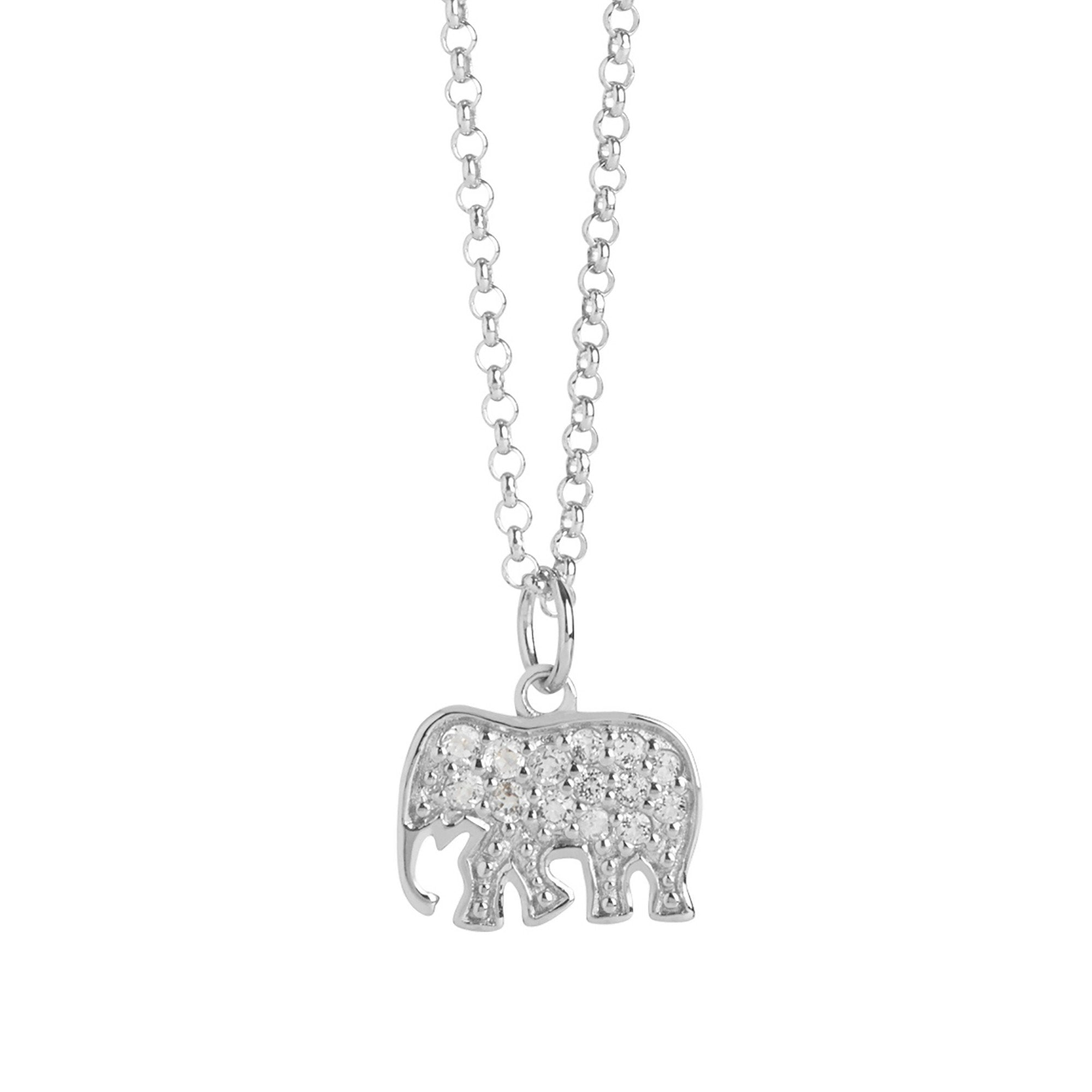 Muru Elephant Pendant with Topaz Jewellery Muru