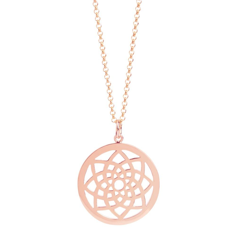 Muru Prosperity Dreamcatcher Pendant in Rose Gold Vermeil Jewellery Muru