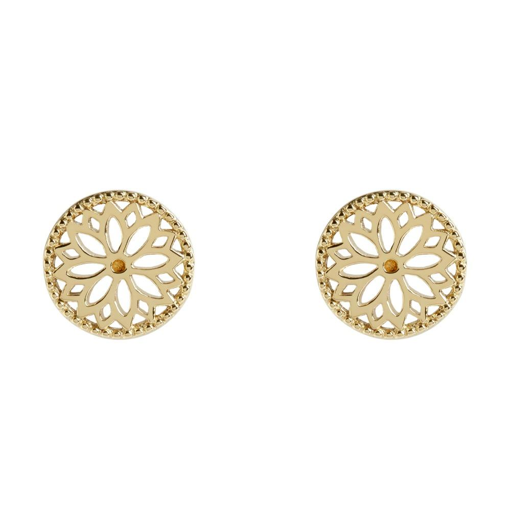 Muru Purity Mandala Earrings in Gold Vermeil Jewellery Muru