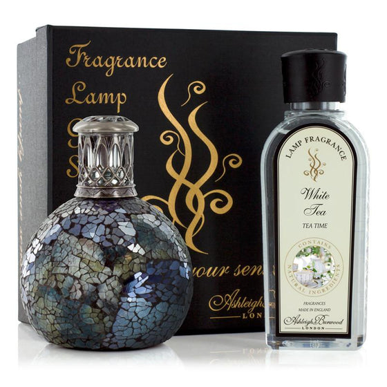 Neptune Lamp and White Tea Fragrance Gift Set