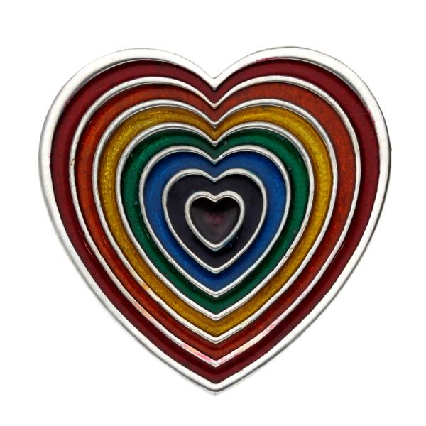 Rainbow Heart Brooch Brooches St Justin
