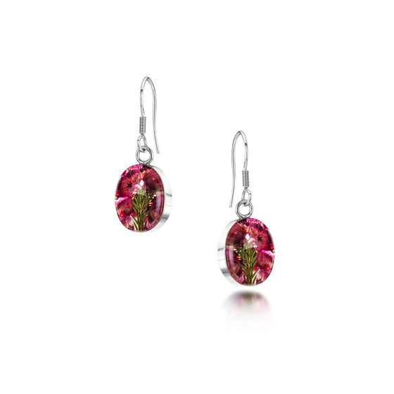Real Flower Jewellery Heather Earrings