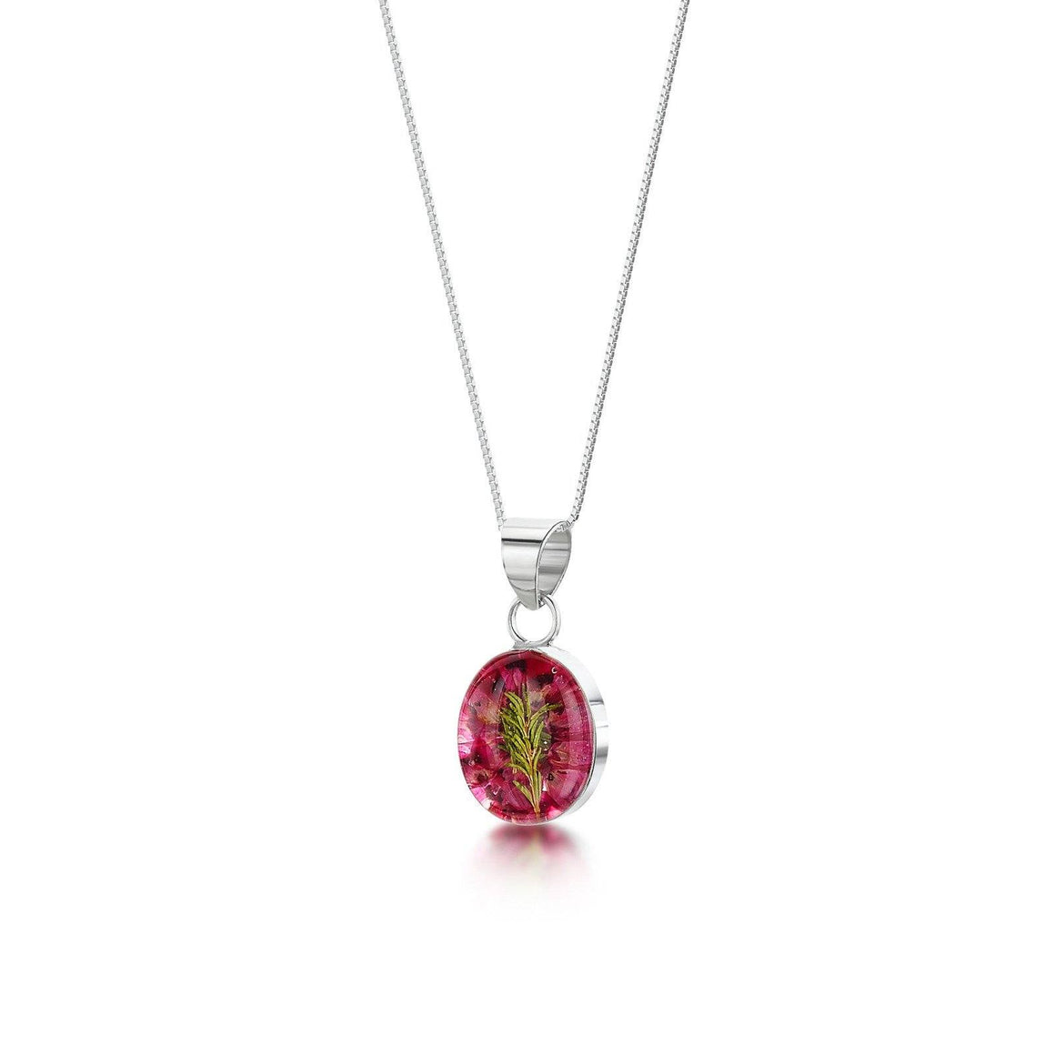 Real Flower Heather Pendant