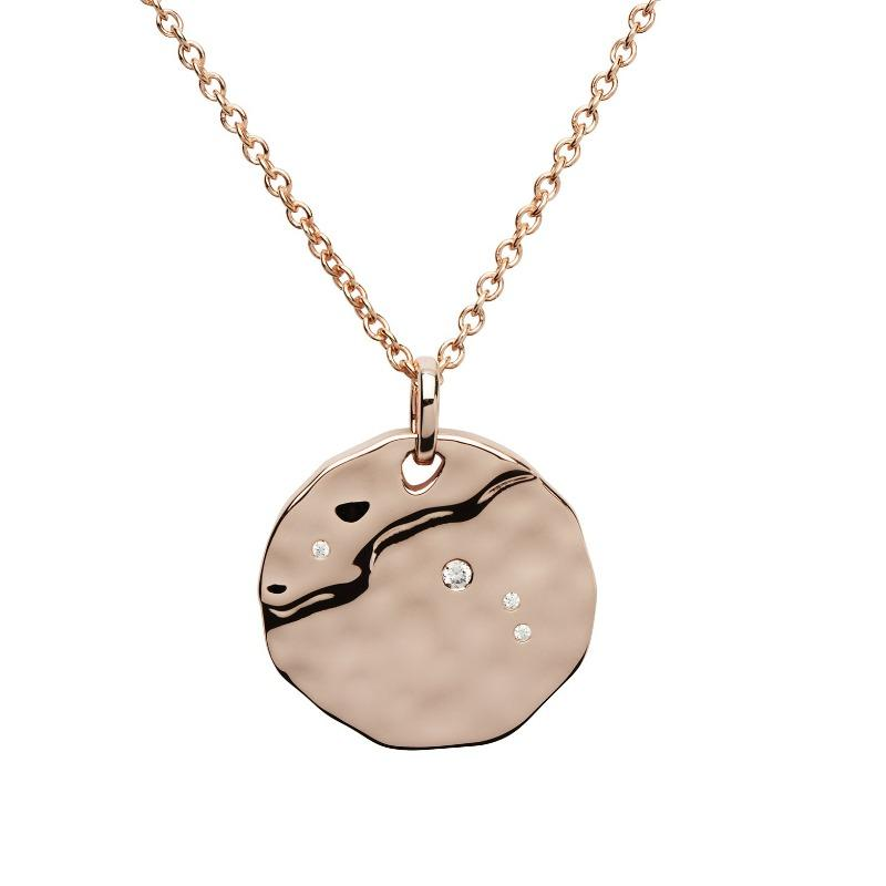 Rose Gold Aries Constellation Pendant Jewellery Unique
