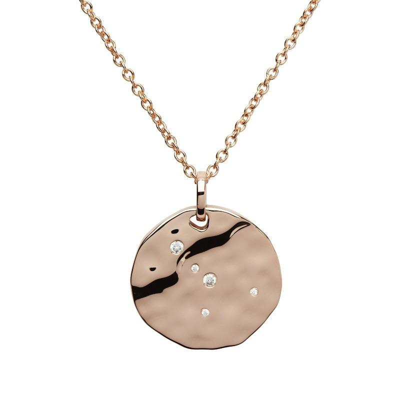 Rose Gold Cancer Constellation Pendant