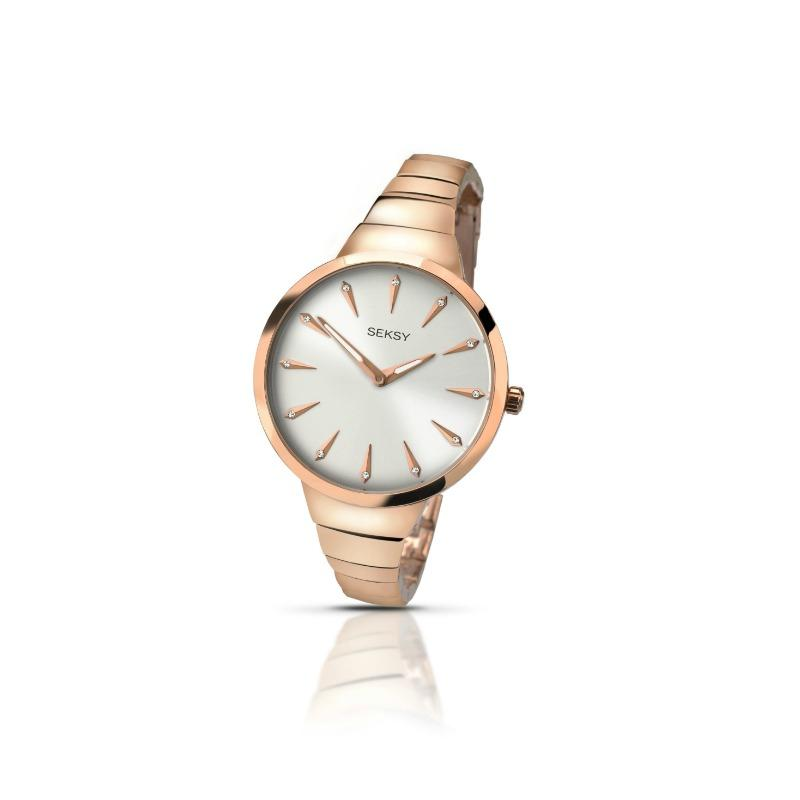 Sekonda Ladies Rose Gold Watch with mother-of-pearl dial