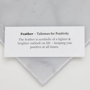 meaning card for feather pendant