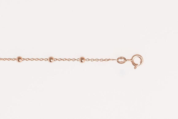 Rose Gold on Silver Intermittent Ball Chain