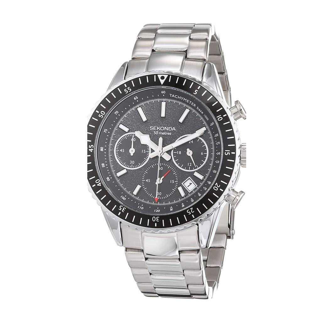 Sekonda Men's Chronograph Watch with Black Dial 1736 Watches Sekonda
