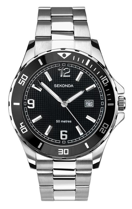 Sekonda Men's Watch with Black Dial