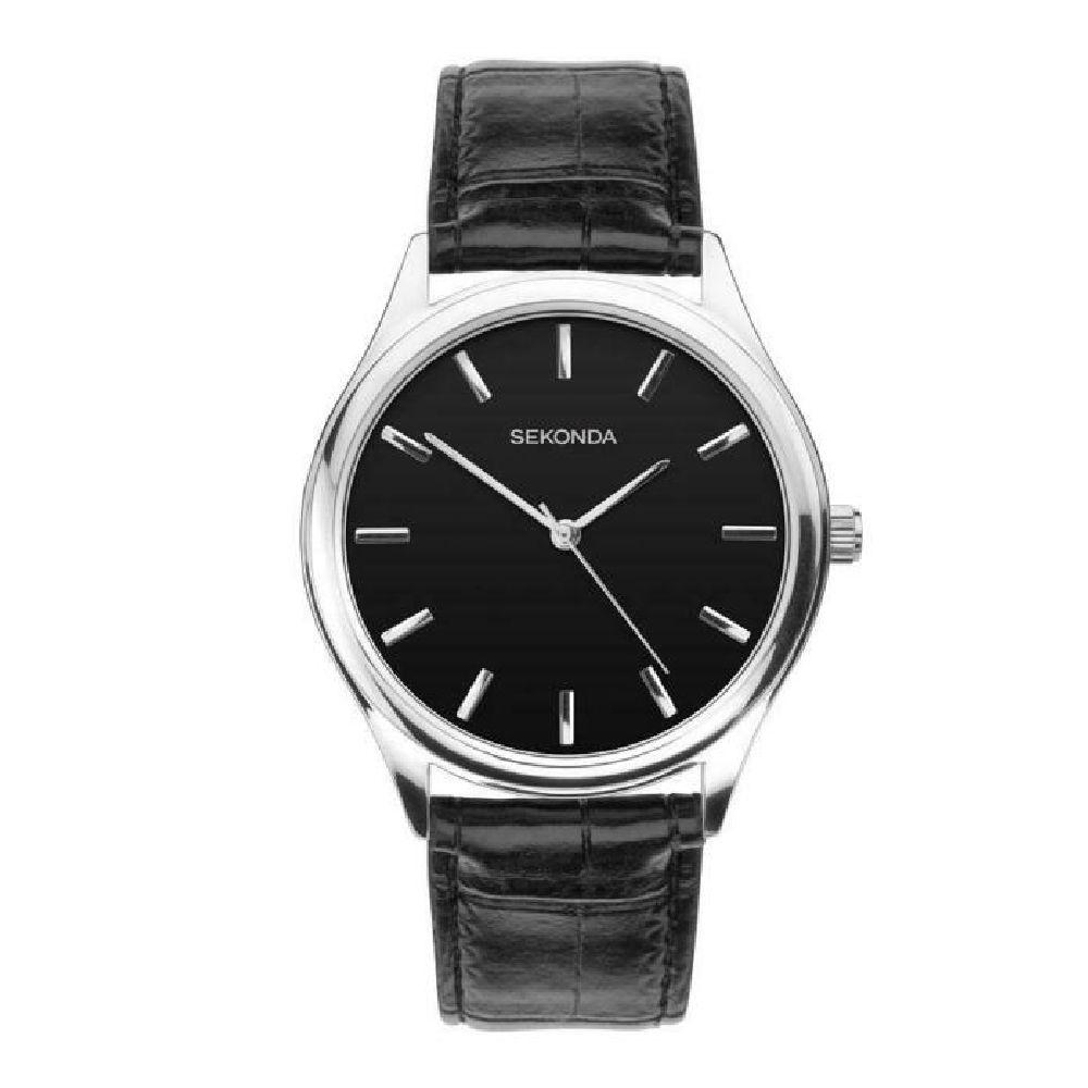 Sekonda Men's Watch with Black Strap and Dial 1532 Watches Sekonda