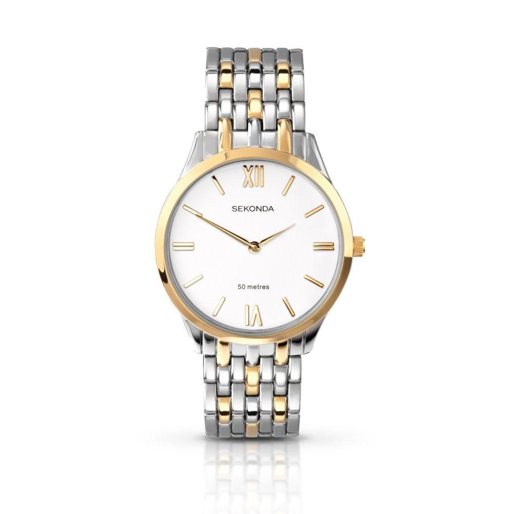 Sekonda Mens Two-Tone Bracelet Watch 3449 Watches sekonda