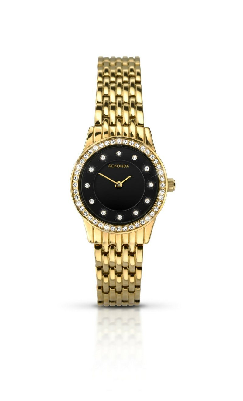 Sekonda Ladies Gold Watch with Black Face 2152