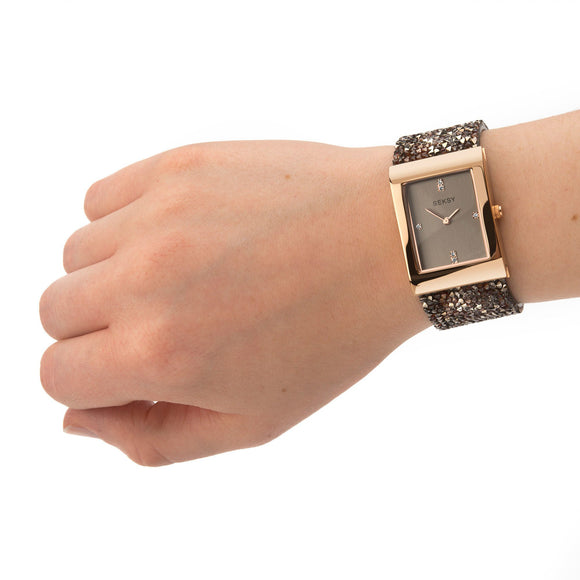 Seksy Rocks Watch Rose Gold Plated 2580