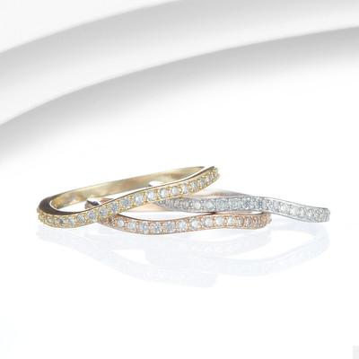 Set of 3 Silver Stacking Rings with CZ