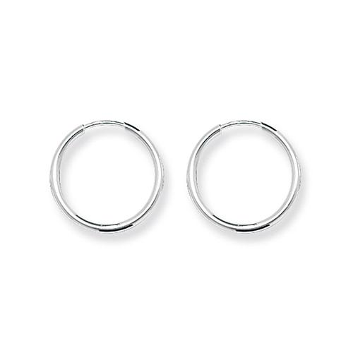 Silver 16 mm Hoop Earrings Jewellery Treasure House Limited
