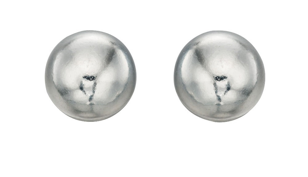 Silver Plain Ball Stud Earrings Jewellery Gecko