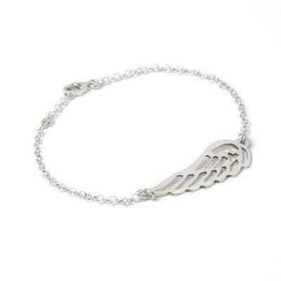 Silver Follow Your Dreams Angel Wing Bracelet Jewellery Tales from the Earth