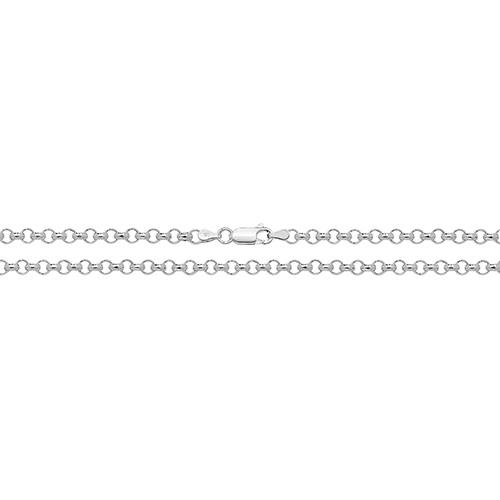 Sterling silver rounded belcher chain in various lengths