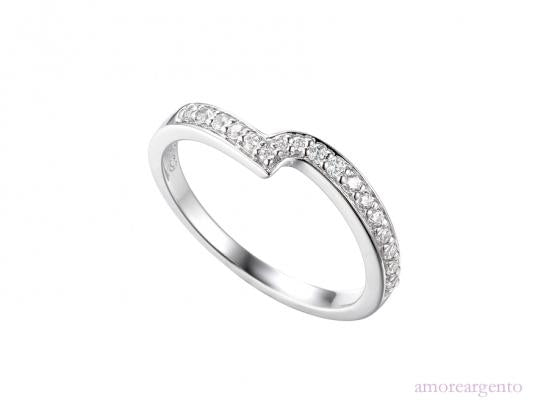 Silver and CZ Twist Eternity Ring