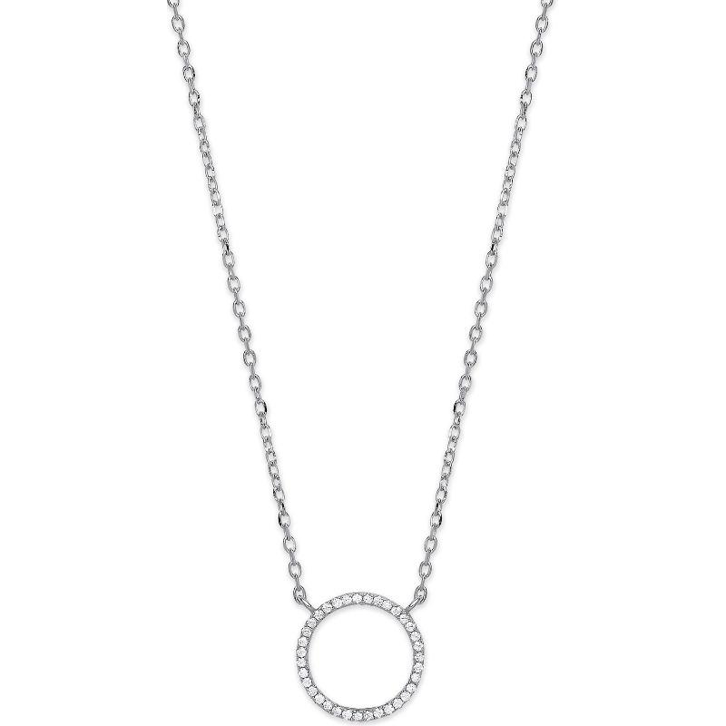 Silver and CZ Circle of Life Necklace