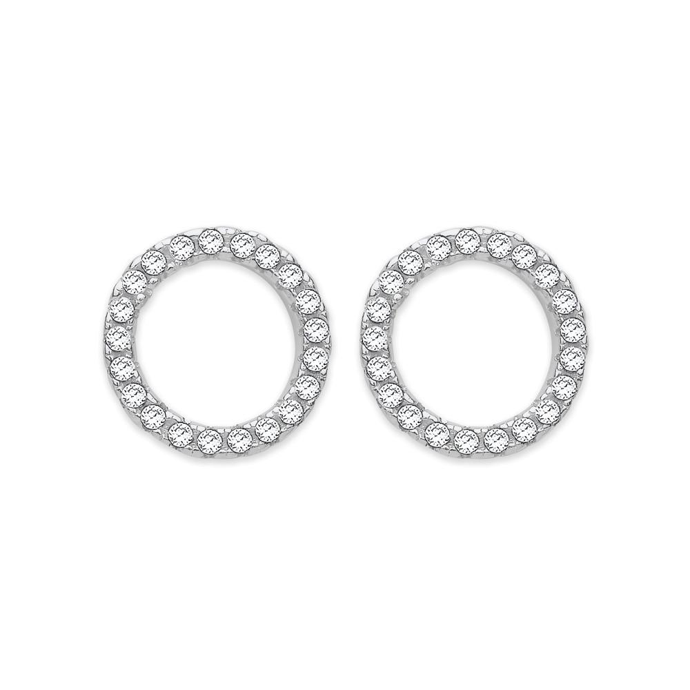 by earrings jewelry post lizardi studs hoop stud sterling silver open circle handmade everyday