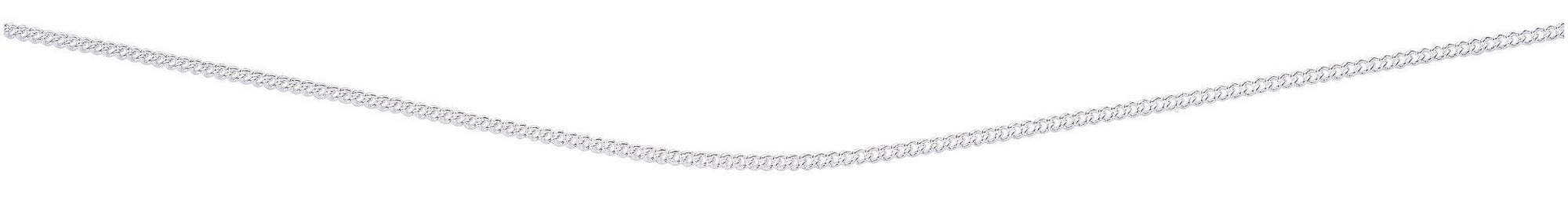"20"" Silver Curb Chain Jewellery Gecko"