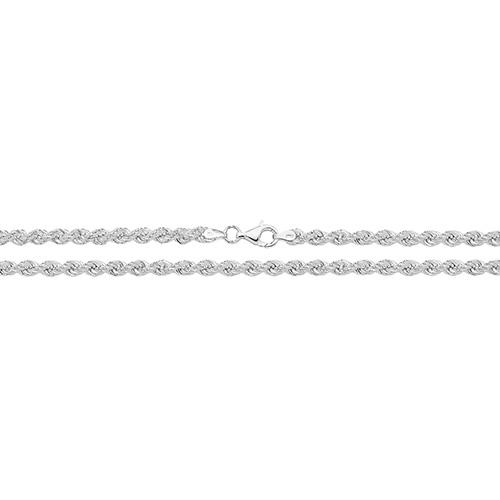 Silver Heavy Rope Chain Necklace