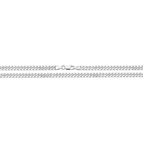 "Silver Close Curb Chain 20"" Necklace"