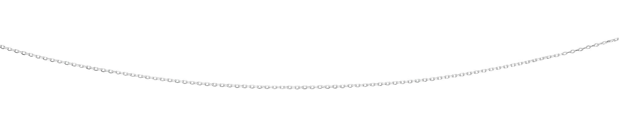 Silver Oval Link Chain Necklace 20""