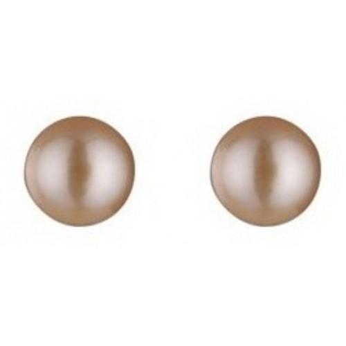 Silver Pink Freshwater Pearl Stud Earrings Jewellery Expressions