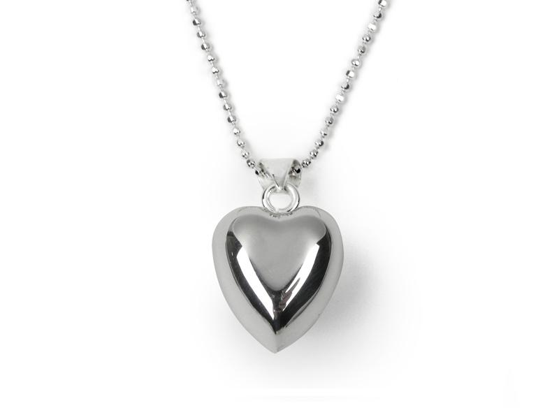 Silver Plated Chiming Heart Necklace Jewellery Tales From The Earth
