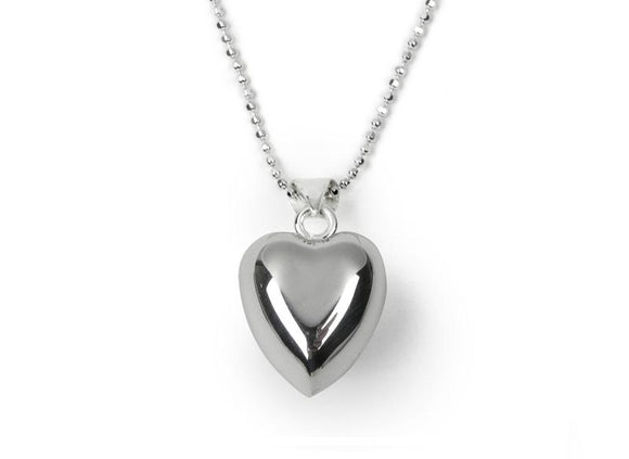 Silver Plated Chiming Heart Necklace