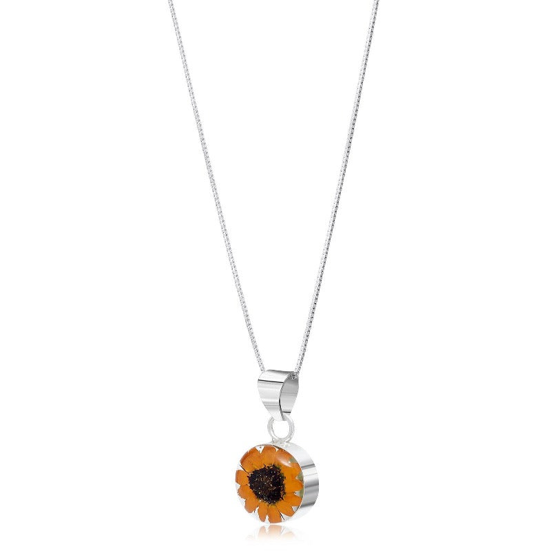 Real Flower Sunflower Pendant