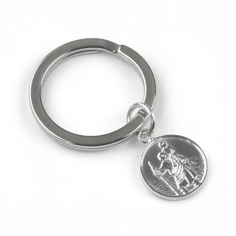 Silver St Christopher Keyring Jewellery Tales from the Earth