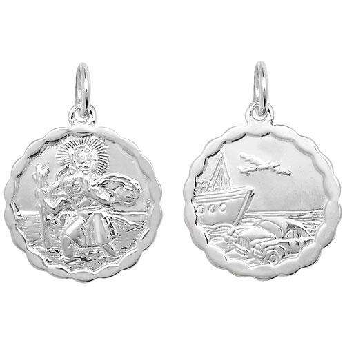Silver St Christopher Pendant Jewellery Treasure House Limited
