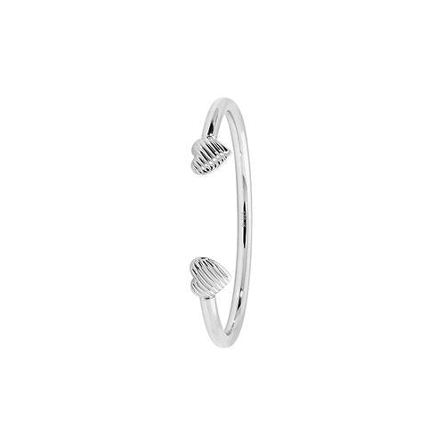 Baby Torque Bangle with Engraved Hearts