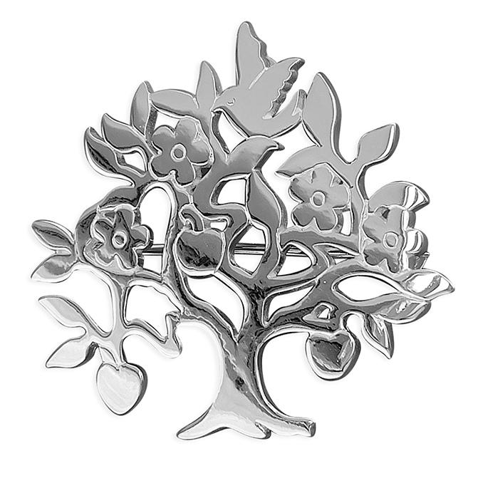 Silver Tree of Life Brooch Jewellery CME