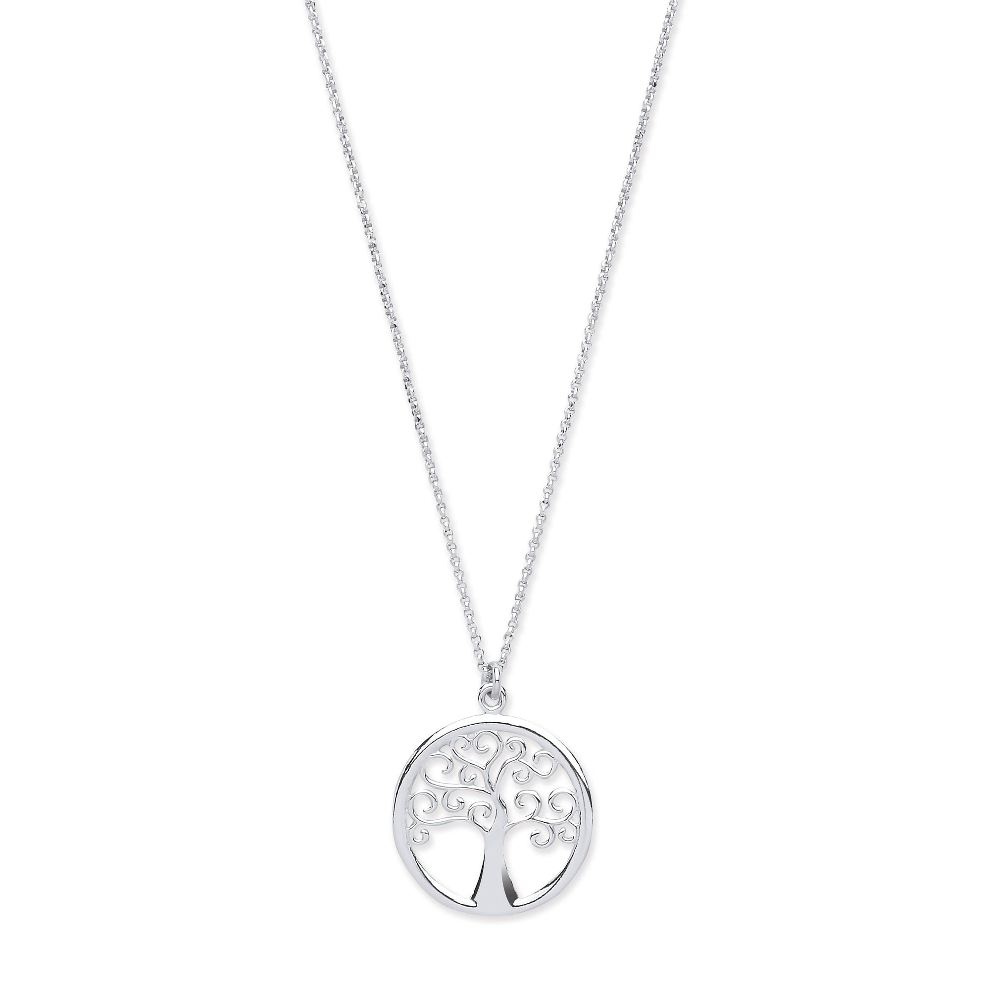 Silver Tree of Life Pendant Jewellery Hanron